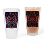 Rainbow Mandala Pattern Drinking Glass