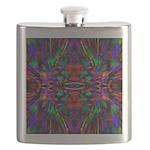 Rainbow Mandala Pattern Flask