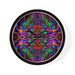 Rainbow Mandala Pattern Wall Clock