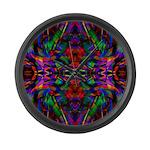 Rainbow Mandala Pattern Large Wall Clock