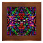 Rainbow Mandala Pattern Framed Tile