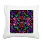 Rainbow Mandala Pattern Square Canvas Pillow