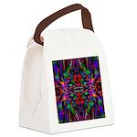 Rainbow Mandala Pattern Canvas Lunch Bag