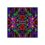 Rainbow Mandala Pattern Square Sticker 3