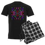 Rainbow Mandala Pattern Men's Dark Pajamas