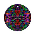 Rainbow Mandala Pattern Ornament (Round)