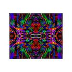 Rainbow Mandala Pattern Throw Blanket