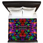 Rainbow Mandala Pattern King Duvet