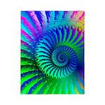 Psychedelic Rainbow Blue Hippie Pattern Twin Duvet