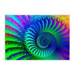 Psychedelic Rainbow Pattern 5'x7'Area Rug