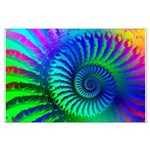 Psychedelic Rainbow Pattern Large Poster