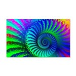 Psychedelic Rainbow Pattern 20x12 Wall Decal