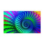 Psychedelic Rainbow Pattern 35x21 Wall Decal