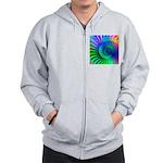 Psychedelic Rainbow Pattern Zip Hoodie