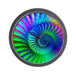 Psychedelic Rainbow Pattern Wall Clock