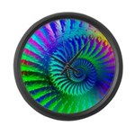 Psychedelic Rainbow Pattern Large Wall Clock