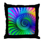 Psychedelic Rainbow Pattern Throw Pillow