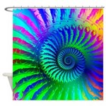 Psychedelic Rainbow Pattern Shower Curtain