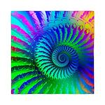 Psychedelic Rainbow Pattern Queen Duvet