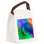 Psychedelic Rainbow Pattern Canvas Lunch Bag