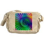 Psychedelic Rainbow Pattern Messenger Bag