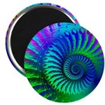 Psychedelic Rainbow Pattern Magnet