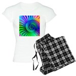 Psychedelic Rainbow Pattern Women's Light Pajamas