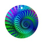 Psychedelic Rainbow Pattern Ornament (Round)