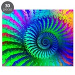 Psychedelic Rainbow Pattern Puzzle