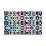 Rainbow Fractal Art 35x21 Wall Decal