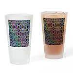 Rainbow Fractal Art Drinking Glass