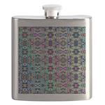 Rainbow Fractal Art Flask