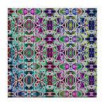 Rainbow Fractal Art Tile Coaster