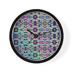 Rainbow Fractal Art Wall Clock