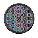 Rainbow Fractal Art Large Wall Clock