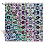 Rainbow Fractal Art Shower Curtain