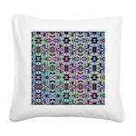 Rainbow Fractal Art Square Canvas Pillow