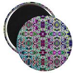 Rainbow Fractal Art Magnet