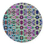 Rainbow Fractal Art Round Car Magnet