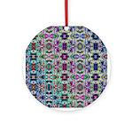 Rainbow Fractal Art Ornament (Round)