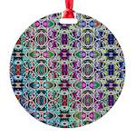 Rainbow Fractal Art Round Ornament