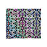 Rainbow Fractal Art Throw Blanket