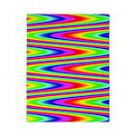 Psychedelic Rainbow Zig Zag Pattern Twin Duvet