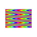Psychedelic Rainbow Zig Zag Pattern 5'x7'Area Rug