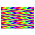 Psychedelic Rainbow Zig Zag Pattern Large Poster