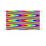 Psychedelic Rainbow Zig Zag Pattern Banner