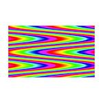Psychedelic Rainbow Zig Zag 35x21 Wall Decal