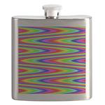 Psychedelic Rainbow Zig Zag Pattern Flask