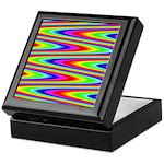 Psychedelic Rainbow Zig Zag Pattern Keepsake Box