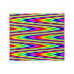 Psychedelic Rainbow Zig Zag Throw Blanket